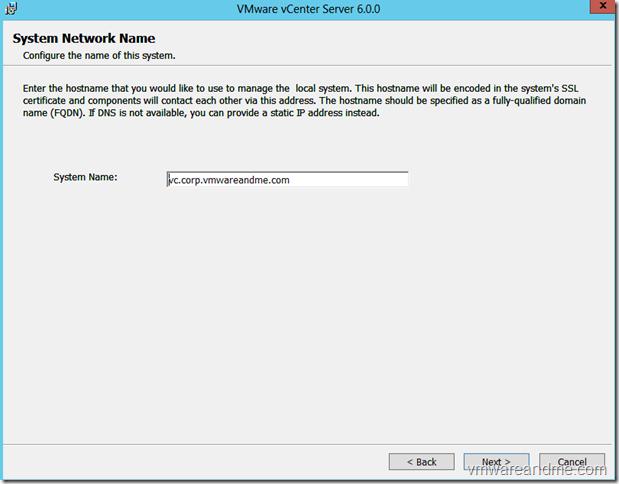 VMware vcenter 6 i
