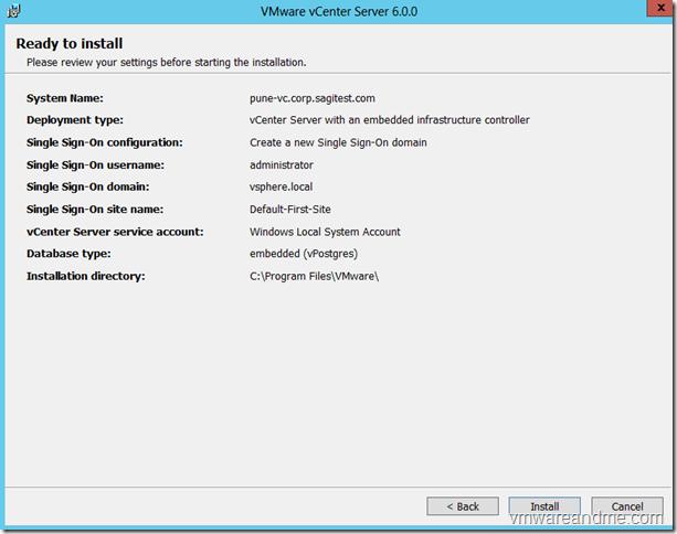 Install vcenter